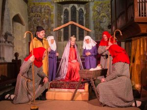 Mary, Joseph, maids and shepherds in 2015